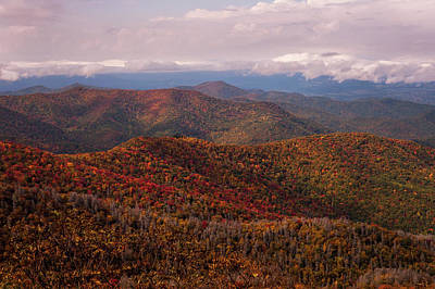 Photograph - Autumn Blue Ridge Parkway North Carolina   by Terry DeLuco