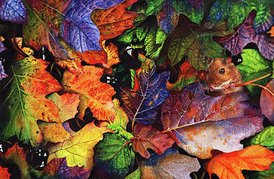 Painting - Autumn Blues by Peter Williams