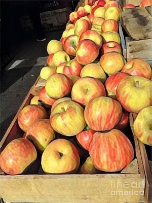 Photograph - Autumn Bounty - Apples by Miriam Danar