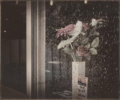 Photograph - Autumn Bouquet With Rainy Window  by Peter V Quenter