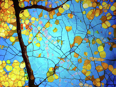 Autumn Branches At Play Art Print