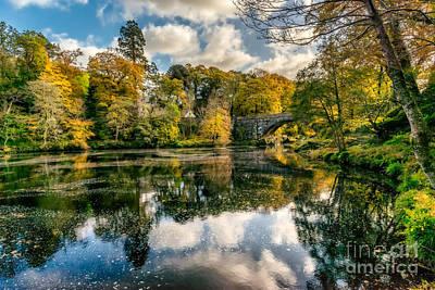 Beaver Digital Art - Autumn Bridge by Adrian Evans