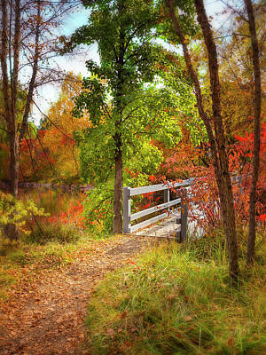 Photograph - Autumn Bridge by Mark Mille