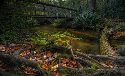 Photograph - Autumn Bridge by Reid Northrup