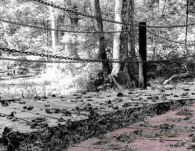Inspirational Photograph - Autumn Bridges The Choice Between Two Paths by Rick Grossman