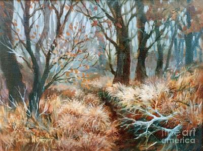 Autumn Brush Art Print by JoAnne Corpany
