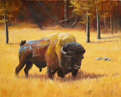 Autumn Bull Art Print by Patrick Entenmann