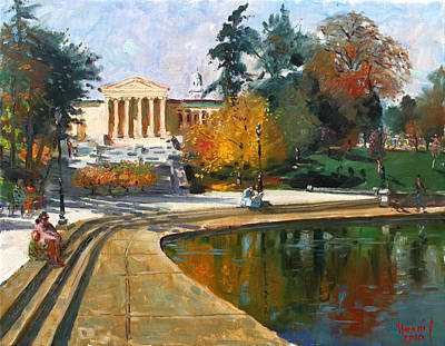 Landscapes Lakes Painting - Autumn By Delaware Lake by Ylli Haruni