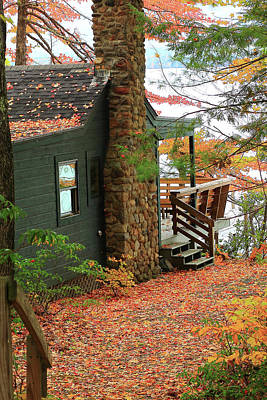 Photograph - Autumn Cabin by Brian Pflanz