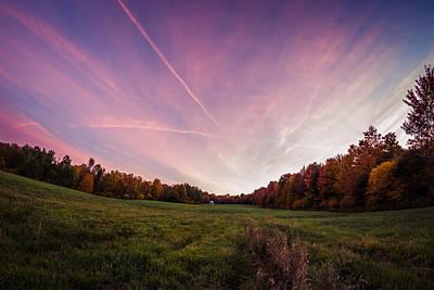 Photograph - Autumn Cabin View by Chris Bordeleau