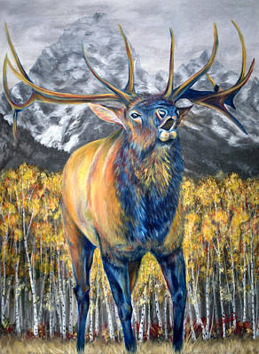 Teton Painting - Autumn Calls by Teshia Art