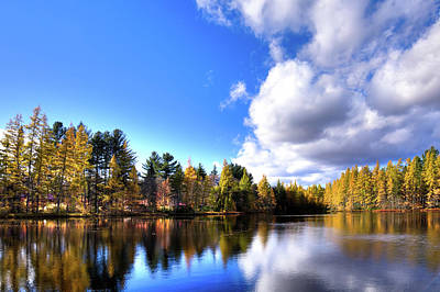 Print featuring the photograph Autumn Calm At Woodcraft Camp by David Patterson