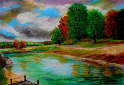 Painting - Autumn Calm by Constantinos Charalampopoulos
