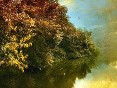 Autumn River Photograph - Autumn Canvas by Jessica Jenney