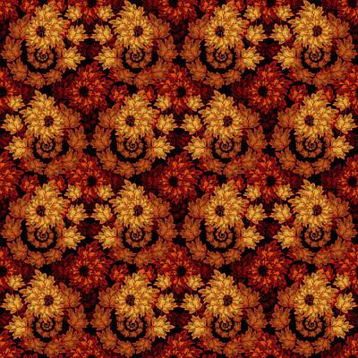 Digital Art - Autumn Cascade by Deborah Runham