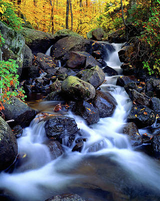 Photograph - Autumn Cascade by Frank Houck