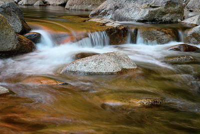 Photograph - Autumn Cascade Nh by Michael Hubley