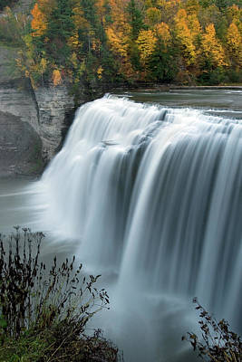 Autumn Cascade Art Print by Timothy McIntyre