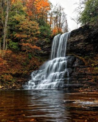 Photograph - Autumn Cascades by Alan Raasch