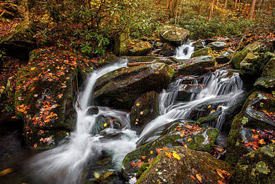 Photograph - Autumn Cascades by Andrew Soundarajan