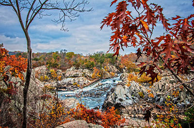 Photograph - Autumn Cascades On The Potomac by Lynn Bauer