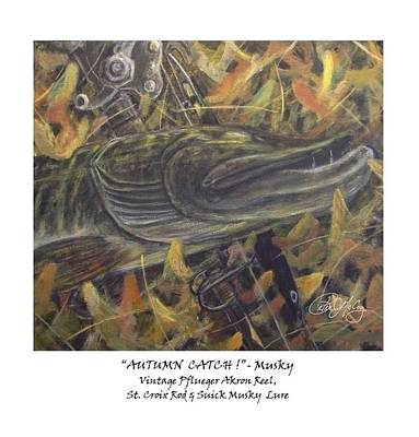 Autumn Catch - Musky Art Print by Peter McCoy
