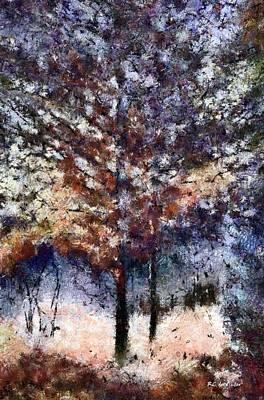 Connecticut Landscape Digital Art - Autumn Cedars by RC deWinter
