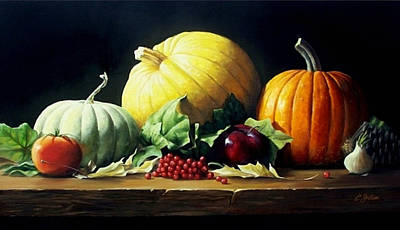 Painting - Autumn Centerpiece by Craig Shillam