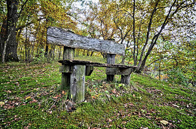 Photograph - Autumn Chair by Bonfire Photography