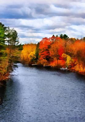 Digital Art - Autumn Channel by JGracey Stinson
