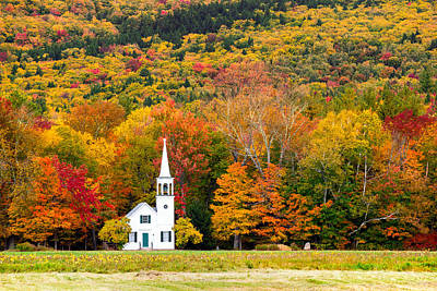 Photograph - Autumn Chapel by Robert Clifford