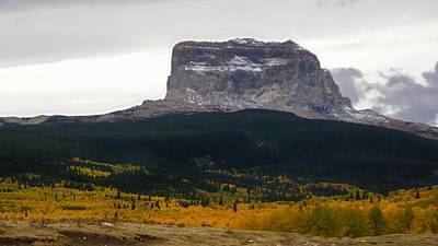 Photograph - Autumn Chief Mountain, Square View by Tracey Vivar