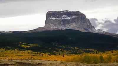 Polaroid Camera - Autumn Chief Mountain, Square View by Tracey Vivar