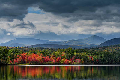 Photograph - Autumn Chocorua Lake Nh by Michael Hubley