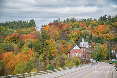 Photograph - Autumn Church by Cheryl Baxter