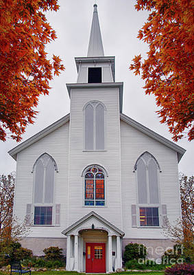 Photograph - Autumn Church by Mark Miller