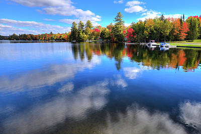 Photograph - Autumn Clouds On 6th Lake by David Patterson