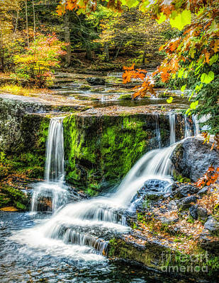 Photograph - Autumn Color At Factory Falls by Nick Zelinsky