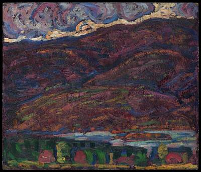 Maine Landscapes Painting - Autumn Color by Marsden Hartley