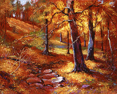 Fallen Leaf Painting - Autumn Color Palette by David Lloyd Glover