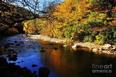 Fashion Paintings Rights Managed Images - Autumn Color Williams River Royalty-Free Image by Thomas R Fletcher