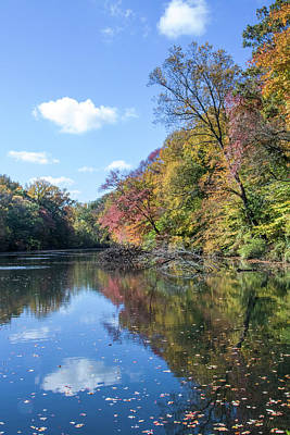 Photograph - Autumn Colors At Hopkins Pond by John Rivera