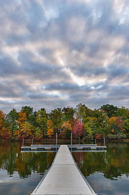 Photograph - Autumn Colors At The Lake by Lori Coleman