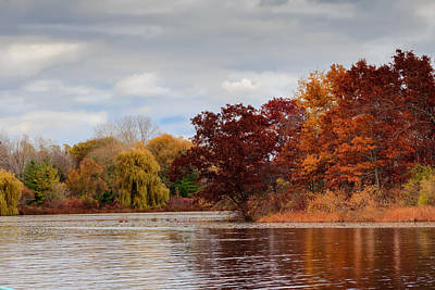 Photograph - Autumn Colors By The Lake by Joni Eskridge