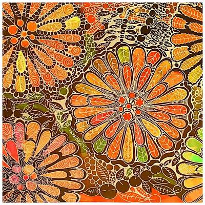 Autumn  Colors Mandalas  Art Print