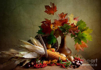 Still Life Royalty-Free and Rights-Managed Images - Autumn Colors by Nailia Schwarz