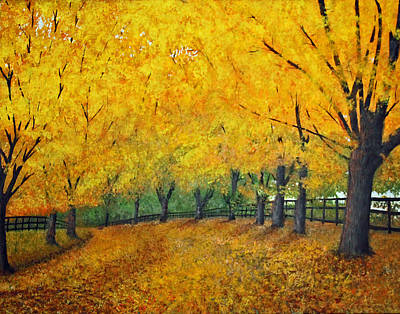 Painting - Autumn Colors, Ny State by Lawrence Holofcener