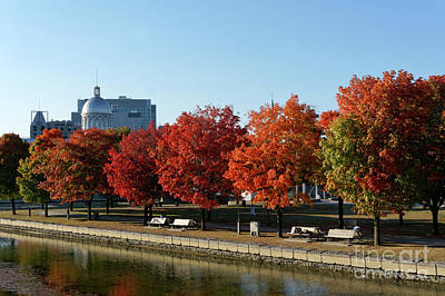 Photograph - Autumn Colors Old Port Of Montreal by John  Mitchell