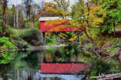 Autumn Colors Over Slaughterhouse. Art Print