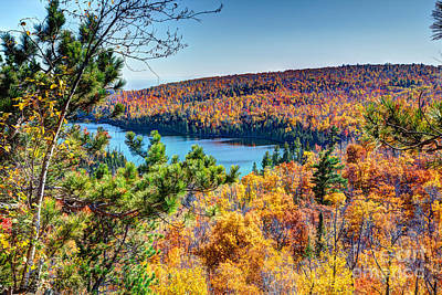 Autumn Colors Overlooking Lax Lake Tettegouche State Park II Art Print